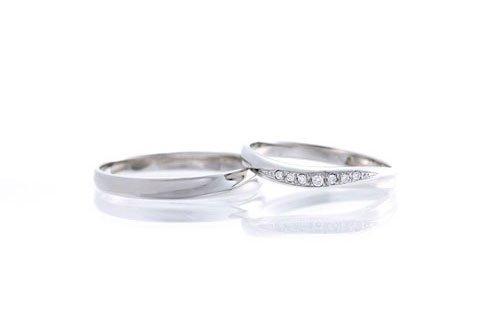 結婚指輪 2万円台 K10ホワイトゴールド
