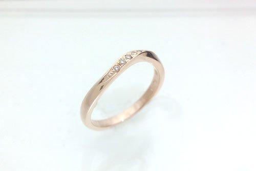 プルーヴA K10ピンクゴールド ダイア 結婚指輪 2万円台