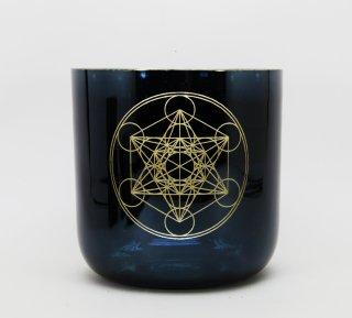 ソルフェジオ周波数528HZ 大天使メタトロン メタトロンキューブ 5インチC チタニウムブラック
