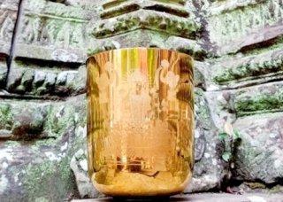 絶対音 女神 ラクシュミー彫刻 チタニウムゴールド