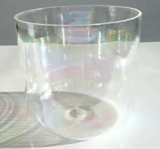 ソルフェジオ周波数 285 hz チタニウムレインボークリスタルボウル 7インチD