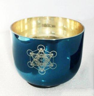ソルフェジオ周波数528HZ 大天使メタトロン メタトロンキューブ 5インチC チタニウムブルー