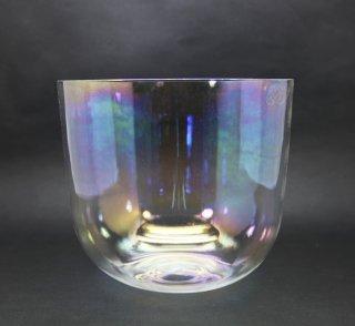 ソルフェジオ周波数 285 hz チタニウムレインボークリスタルボウル 6インチD