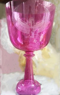 イシス マゼンタピンク 彫刻 聖杯 グレイル 6インチ 各音階  432hz または440hz