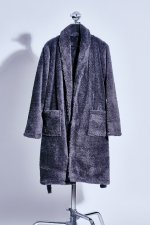 Fur gown coat