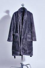 Fur gown coat