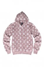 hell monogram Parka (DUSTY PINK×WHITE)