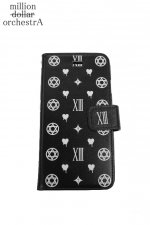 hell monogram I phone case(BLACK×WHITE)(6/6S)
