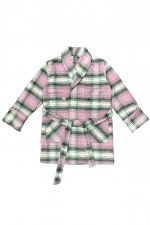 PLAID GOWN COAT(PINK)