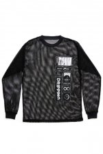 DRIIPPING MESH LONG T-SHIRTS(BLACK)