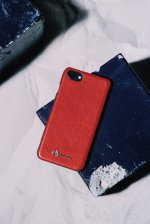 Lucifer arrow PU leather i phone case(RED)