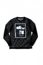 ENDROLL MESH LONG SLEEVE(BLACK)