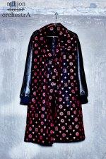 leather sleeve trench coat(hell monogram)