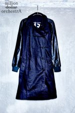 leather sleeve trench coat(BLACK)