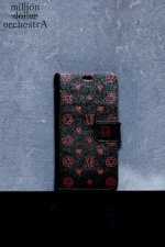 hell monogram I phone case(BLACK×RED)(6/6S)
