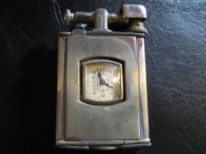 アンティーク・時計付きライター