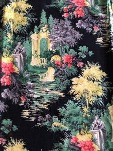 1950s庭園柄カーテン 2枚セット