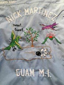 ヴィンテージ・ボウリングシャツ 小鳥tweet GUAM