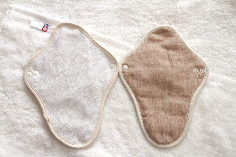 【メール便選択可】今治タオルで作ったオーガニック布ナプキン温布【ホルダー大】カラー:ホワイト&ブラ…