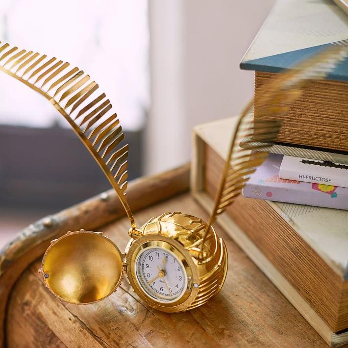 日本未入荷【Pottery Barn】ハリーポッター 金のスニッチ時計