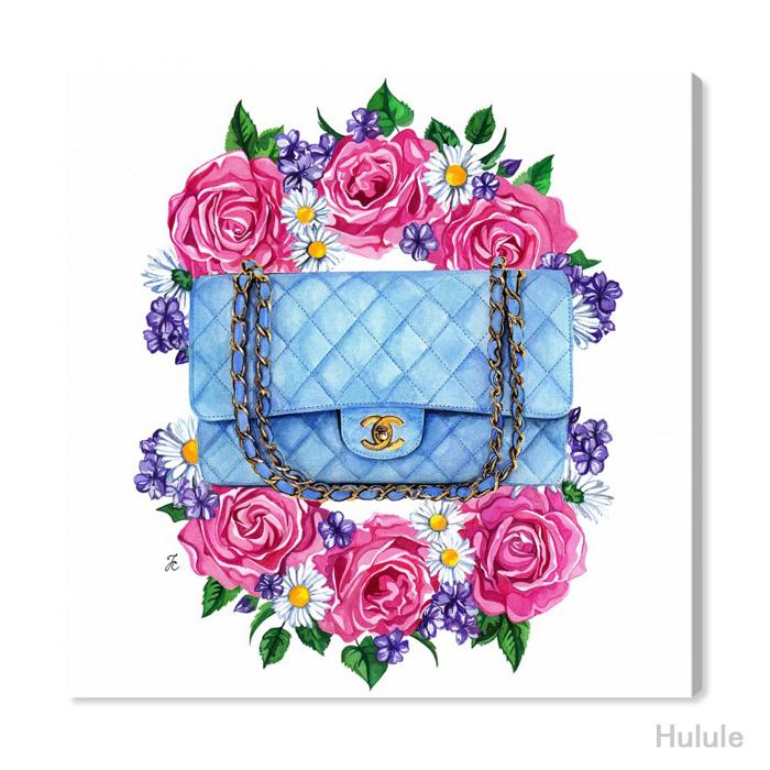 日本未入荷・オリバーガル(Oliver Gal)(30cm~83cmまで5サイズ展開) DOLL MEMORIES - PASTEL BLUE BAG シャネル アート