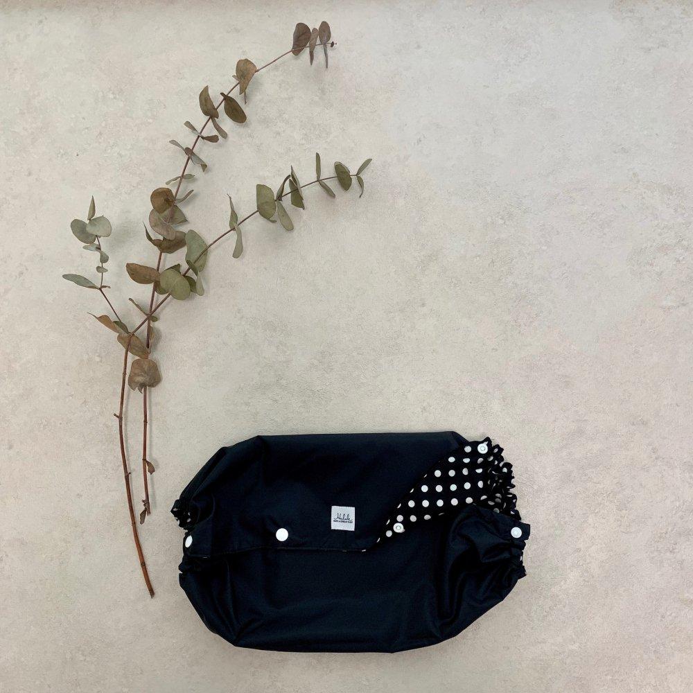 【送料無料】【Lサイズリバーシブル抱っこ紐収納カバー】エルゴ、ボバ、コランなどの抱っこひもに対応(ネイビーラメホワイトドット×スエットネイビ)<日本製>