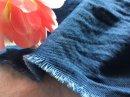 SHUT. インディゴ ふわふわコットン rev.ツイル /藍と紺