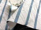 ウォッシャブル*cotton-nylon*ストライプ* /ブルー