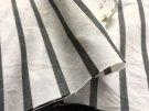 ウォッシャブル*cotton-nylon*ストライプ /ブラック