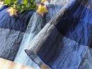 コットンリネンラミー*natural-check/藍ブロック