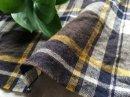 起毛*40/コットンリネン tartan-check  /ダークパープルブラウン