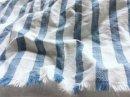リネンコットン* indigoストライプ / ブルー