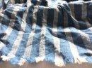 リネンコットン* indigoストライプ / 藍ブルー