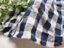 リネンコットン* indigoギンガム /藍ネイビー