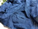 コットンリネン*  indigoグレンチェック  /藍紺