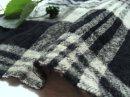 cottonウール*縮絨 厚手ツイル*幅広タータンチェック/smoke