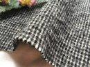 cottonウール*縮絨 厚手ツイル ちどり /ブラック
