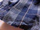 リネンコットン* indigoチェック /藍チェック