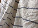 綿麻甘織りスラブナチュラルボーダー/ホワイト