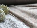 ふわふわガーゼとび裏毛 トップ杢 ベージュ