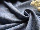ふわふわガーゼとび裏毛 トップ杢 ブルー
