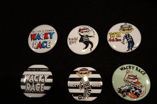 WR  Button Badges G-1 WACKY RACEオリジナル缶バッジ