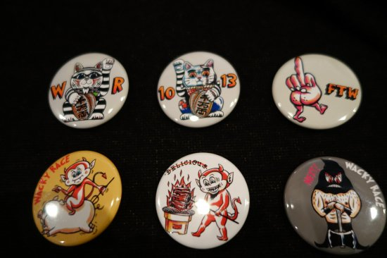 WR  Button Badges G-2 WACKY RACEオリジナル缶バッジ
