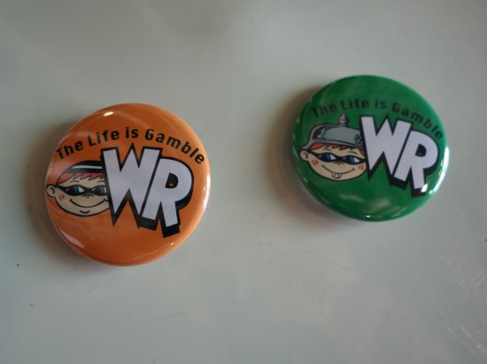 WR  Button Badges G-5 WACKY RACEオリジナル缶バッジ
