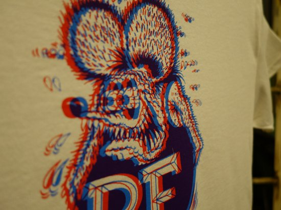 3D RAT FINK (ホワイト)    SNOID RAT FINK Tシャツ