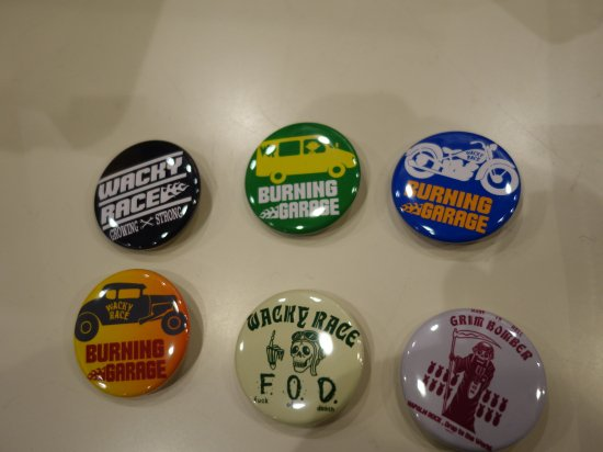 WR  Button Badges G-7 WACKY RACEオリジナル缶バッジ
