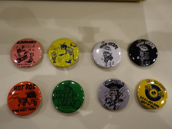 WR  Button Badges G-8 WACKY RACEオリジナル缶バッジ