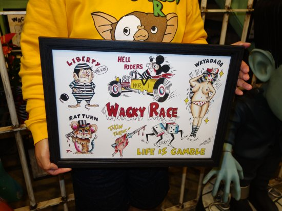 WR.FLASH.POSTER 4th      WACKY RACE オリジナルポスター