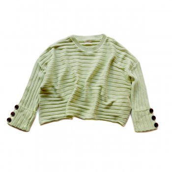Sleeve botton rib knit