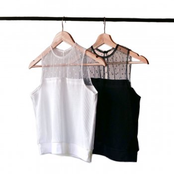 Lace docking thermal tops